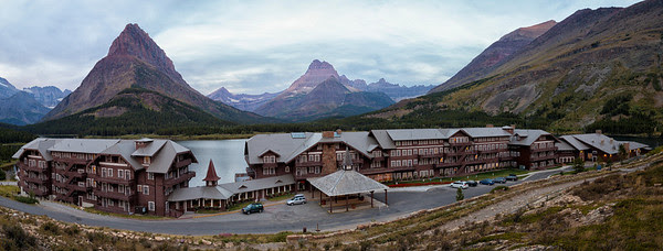 Many Glacier HotelClassic panoramic shot.  We stayed here four nights.  Best place in the park!