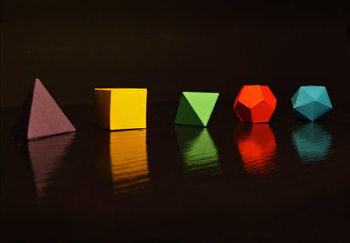 the five platonic solids