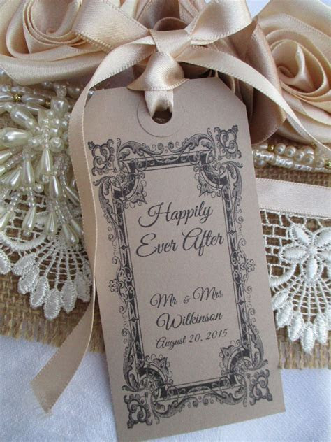 10 Happily Ever After Table Place Setting Tag Napkin Tie