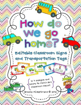 Editable How Do We Go Home? Posters and... by Once Upon a Learning ...
