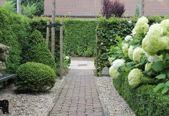 I adore outsides garden path with pavers and gravel for Buis pour haie