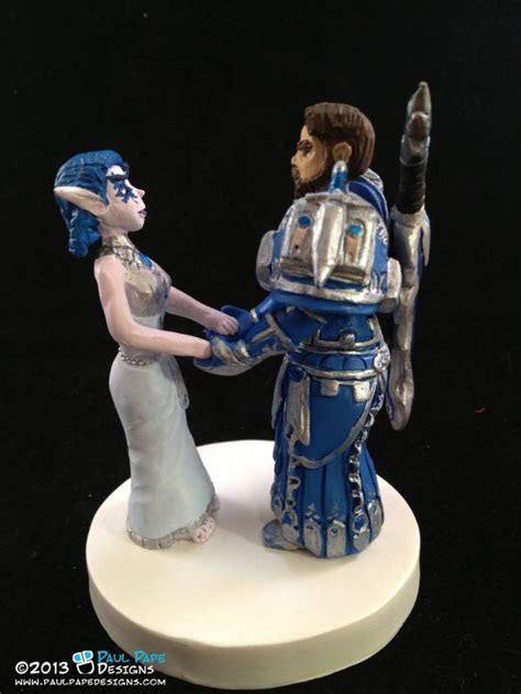 Whimsical Wedding Cake Toppers for the Fantasy Themed
