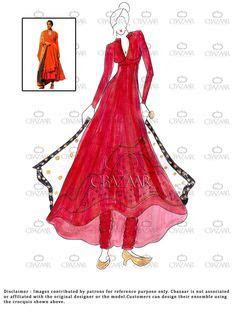 1000  images about Anarkali suits sketches on Pinterest