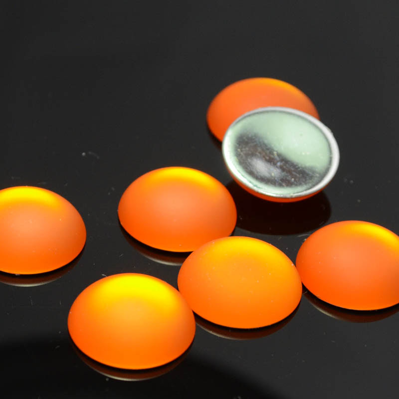 s33973 LunaSoft - Cabochon - 18 mm Round - Mango (1)