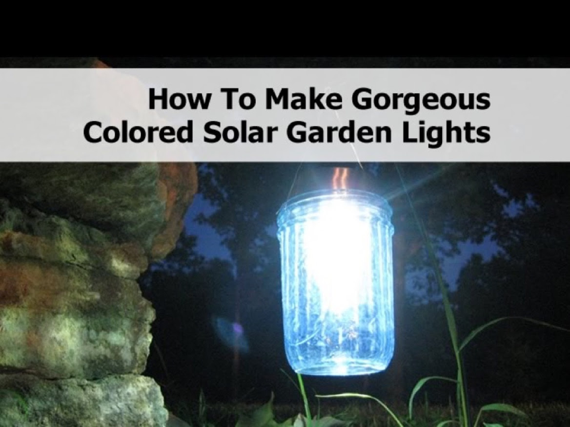 How To Make Gorgeous Colored Solar Garden Lights