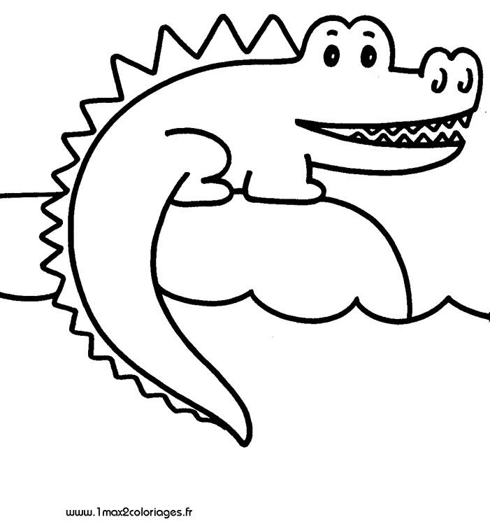 106 Dessins De Coloriage Crocodile à Imprimer Sur Laguerchecom Page 9