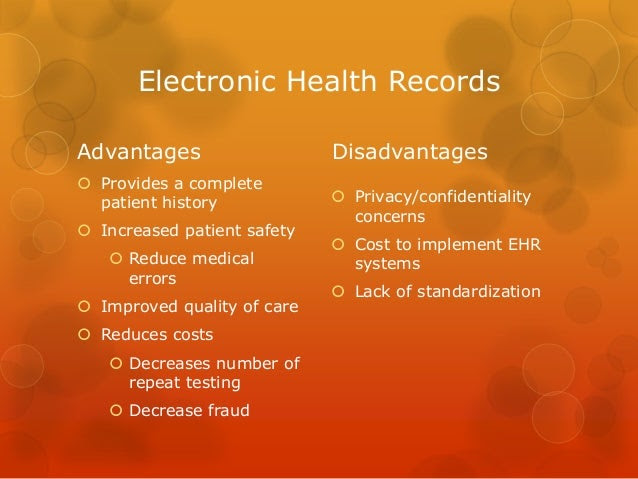 What Are The Advantages Of Electronic Health Records