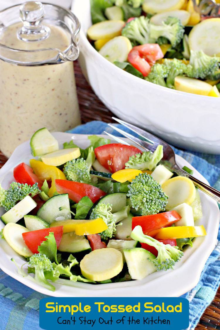 Simple Tossed Salad - Can't Stay Out of the Kitchen