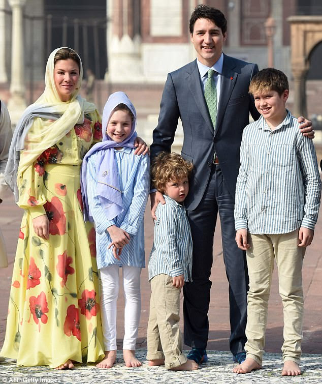 While Trudeau dressed in formal attire for the occasion, he added a touch of flair with his colorful socks, which can be seen in this image