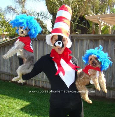 This Homemade Cat in the Hat Costume was my first time making a costume and