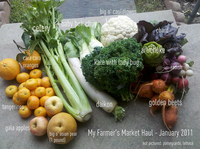 Farmers Market Haul - Los Angeles - Jan 2011