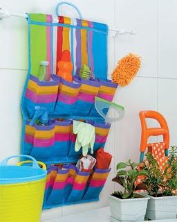 Produtos organizadores da lavanderia