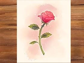 Contoh Gambar Bunga Mawar Merah