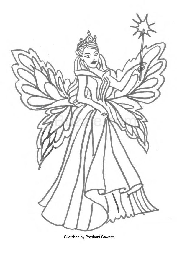 Tooth Fairy Printable Page Coloring Pages