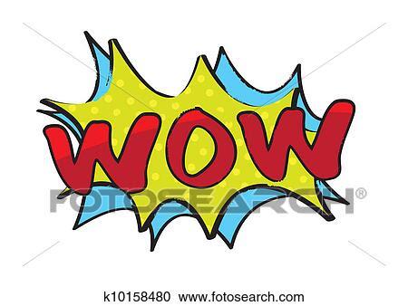 Download Clipart of wow pop art k10158480 - Search Clip Art ...