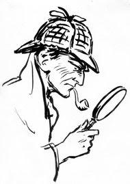 Sherlock Holmes as portrayed by Frederic Dorr Steele.