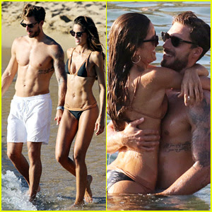 Izabel Goulart & Boyfriend Kevin Trapp Flaunt PDA at the Beach