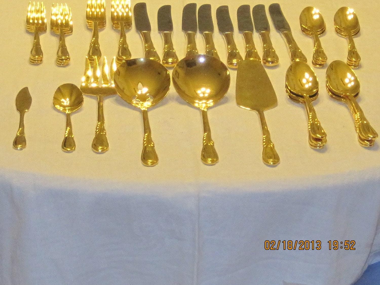 Reserved for Susana Vintage Gold Plated Retroneu by bellesgirl