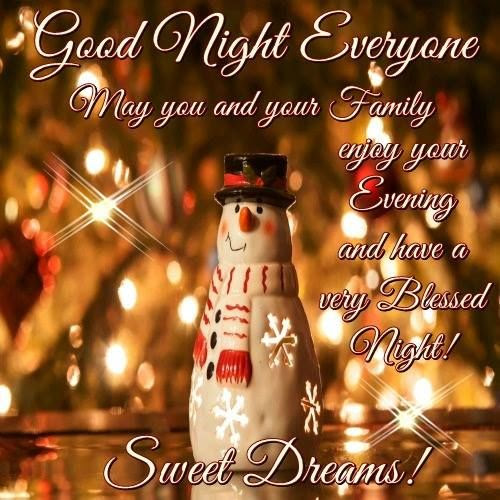 Cute Christmas Goodnight Quote For Family Pictures Photos And