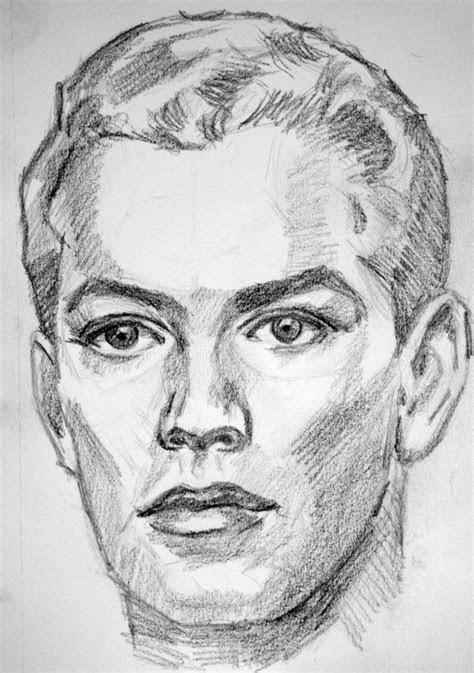 sketch male face  pmucks  deviantart