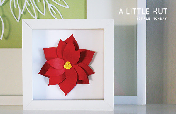 simple monday - poinsettia