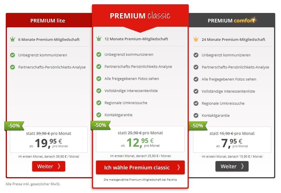 Dialogisches lesen: Parship premium preise
