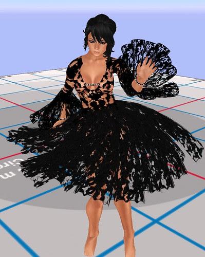 Fashion Fest 2010 Ezura Gothic lacey sexy lolita black