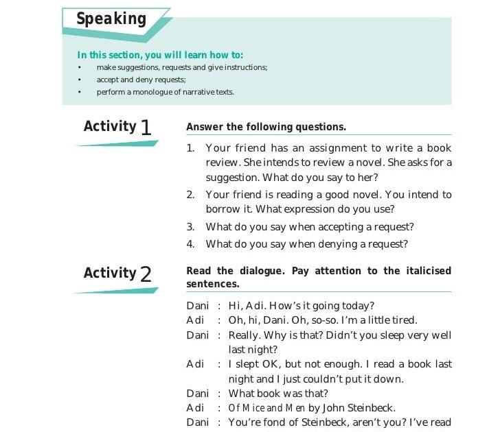 Contoh Dialog Ungkapan Saran Dalam Bahasa Inggris