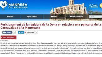 Comunicat de l'Ajuntament de Manresa per la pancarta de la Carnavalada