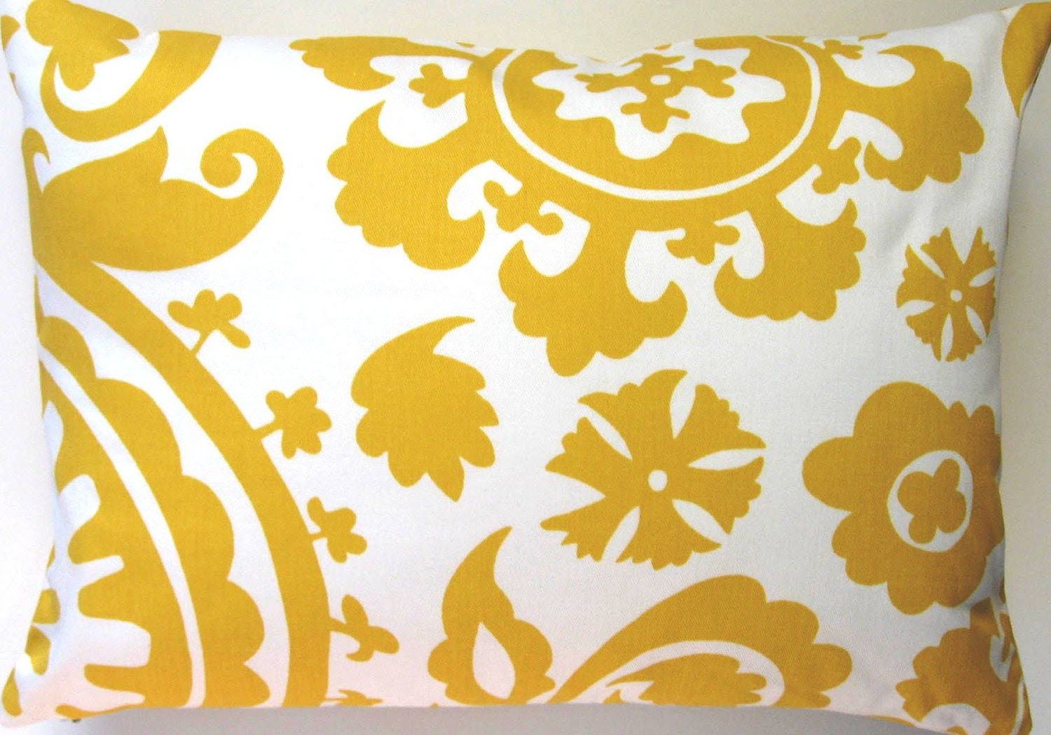 Yellow Pillow Cover Suzani Pillow Cover Yellow by Freshlysewn