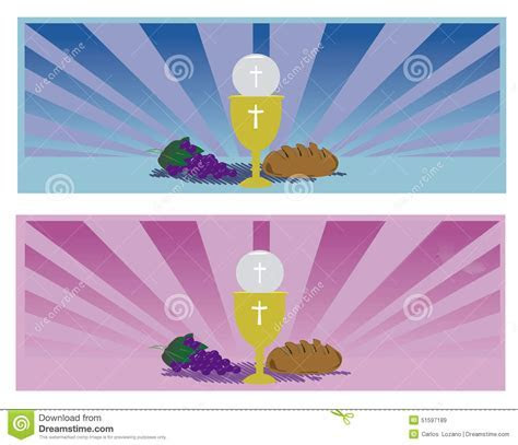 Communion Card Template Stock Photo   Image: 51597189