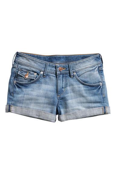 H&M jeansowe szorty z kieszeniami wyprzedaż 2015