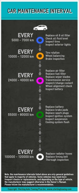 Car Maintenance Intervals Infographic Anything About Cars