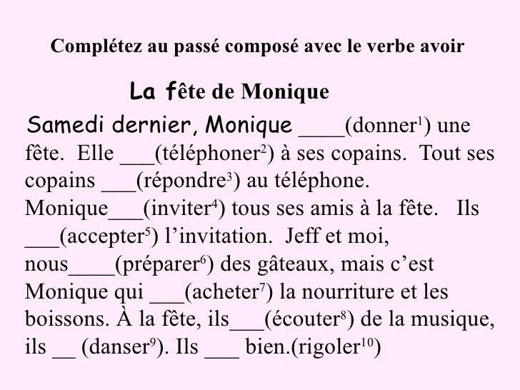 Passé composé - ćwiczenia z czasownikiem avoir 2 - Francuski przy kawie