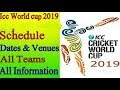 ICC World Cup Schedule 2019