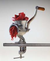 Photo of beef in grinder
