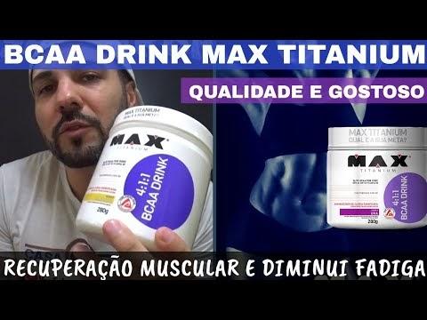 BCAA DRINK MAX TITANIUM com 4 Vezes Mais Leucina e Saboroso. Recuperação Muscular e Diminui Fadiga