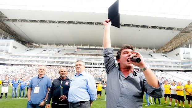Andrés Sanchez anunciou seu desligamento da Arena Corinthians sem vender os naming rights