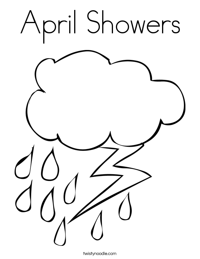 April Showers Bring May Flowers Coloring Page Free Sweetest Photography