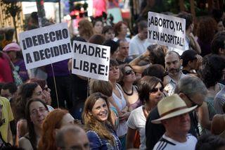Manifestación contra la reforma del aborto que plantea el ministro de Justicia. /SANTI BURGOS
