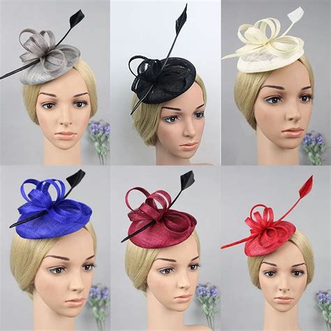 2016 Brand Classic Feather Fascinator Top Hat Wedding
