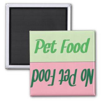 Pet Food Reminder Magnet magnet