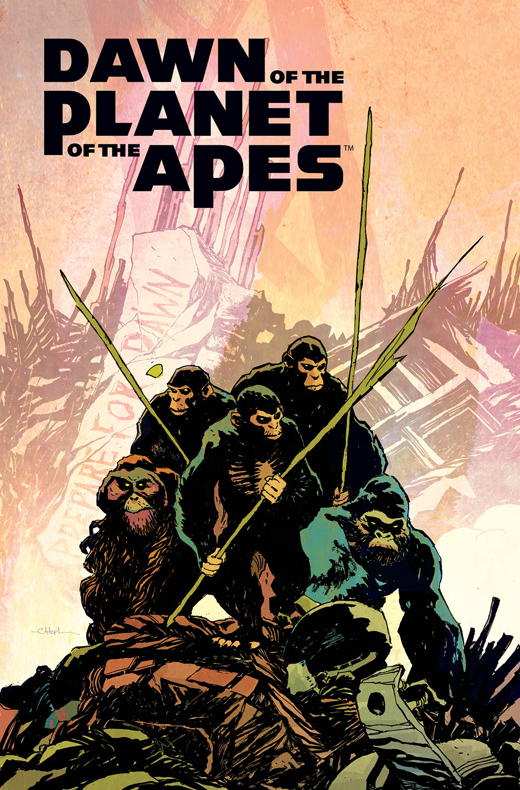 Dawn of the Planet of the Apes #1 Main Cover