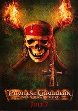 Pirates of the Caribbean 2 poster.