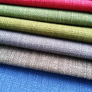 China Solid Linen-Like Dobby Woven Plain Upholstery Sofa ...