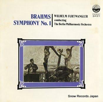 FURTWANGLER, WILHELM brahms; symphony no.1