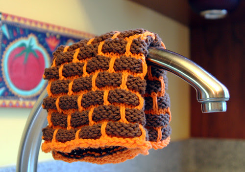 Classic shot: Dishcloth over faucet