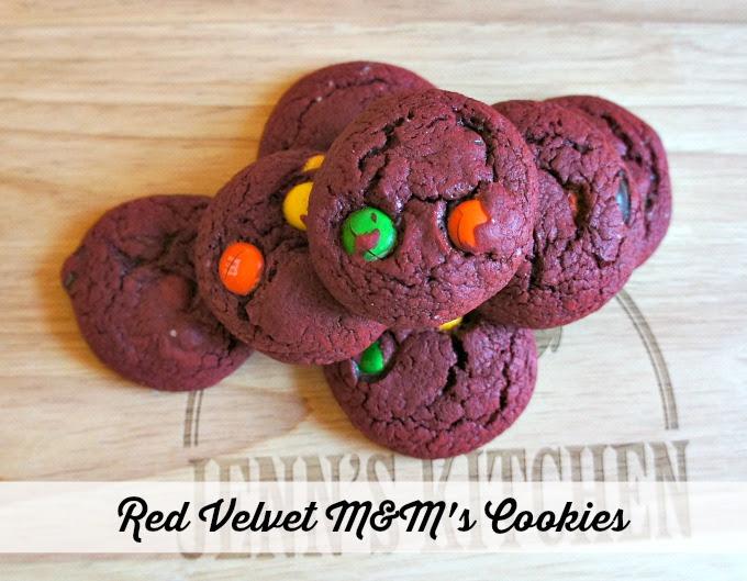 Red Velvet M&Ms Cookies Recipe
