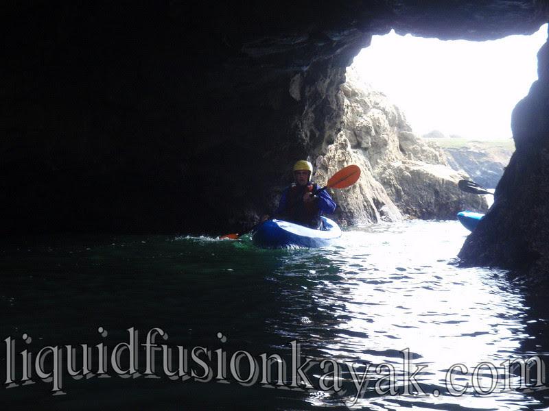 kayak, sea cave, tour, mendocino, fort bragg, ocean,