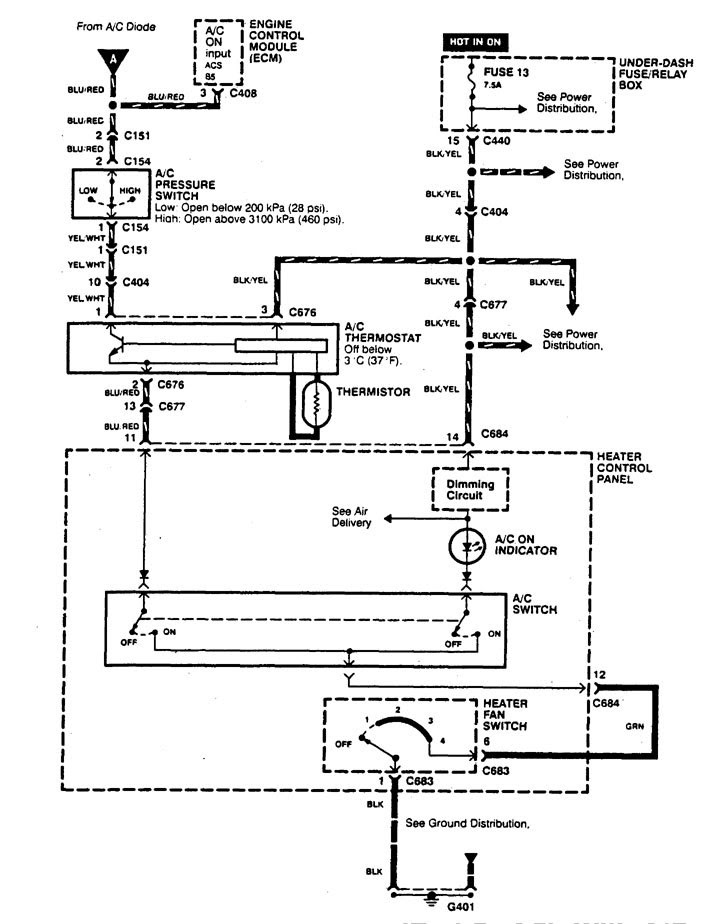 Acura Integra (1995 - 1997) - wiring diagrams - cooling ...